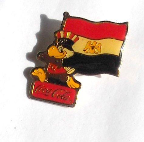 1984 Olympics XXIII Los Angeles Sam Coca Cola Egypt Flag Tie Tac Hat Lapel Pin