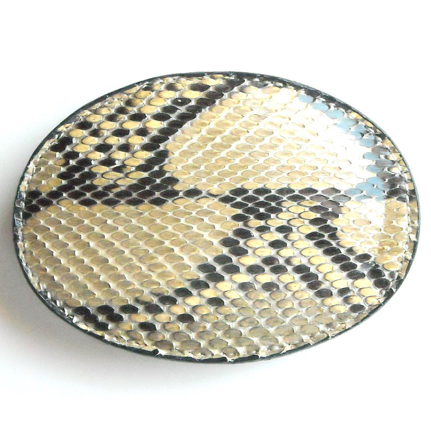 Vintage Tony Lama Python Snake Skin Leather belt buckle