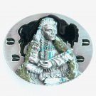 Bergamot 3D Native American Warrior  pewter belt buckle