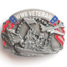 WWII Veteran Siskiyou Pewter Belt Buckle