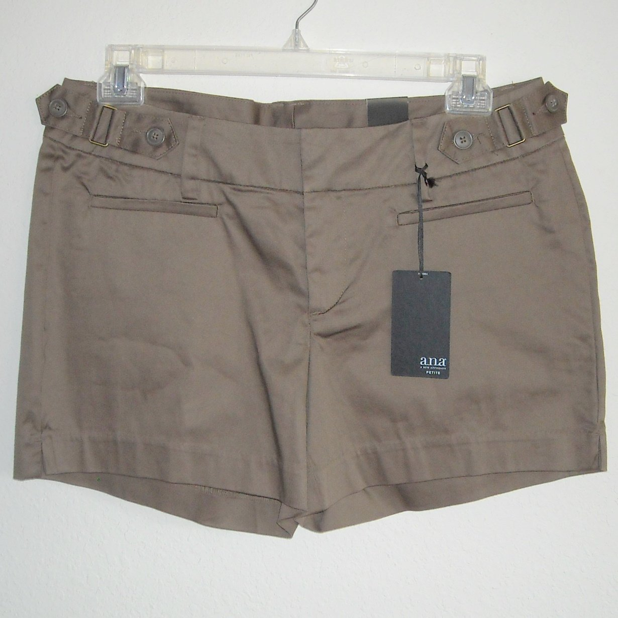 ANA Petite Misses Womens Brown Shorts Size 14P