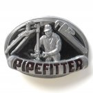 Pipefitter 3D C and J C+J Pewter metal alloy Eagle belt buckle