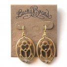 Lucky Brand Openwork Hearts Goldtone Dangle earrings for women