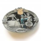 Americas Finest Deputy Pewter Color 3D Belt Buckle