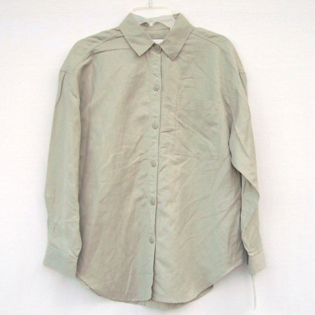 Giorgio Sant Angelo Misses Womens Linen Cotton Shirt Size M