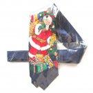 Vintage Puritan Christmas Santa Mens Silk Necktie Tie