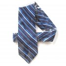 Stafford Extra Long Navy Blue Striped mens Silk necktie tie