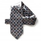 Croft & Barrow Black Neon Geometric Design mens Silk necktie tie