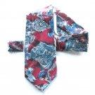 Camden Court Vintage Burgundy Red Paisley Pattern Mens Necktie Tie