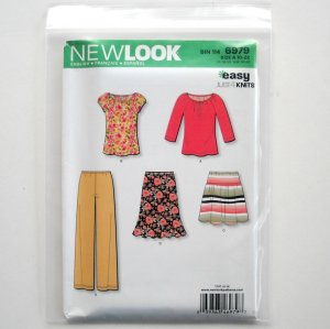 Simplicity New Look Misses Top Skirts Size 10 12 14 16 18 20 22 Sewing Pattern 6979