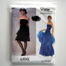 Misses Strapless Dress Size 12 Kasper Vogue Sewing Pattern 1623