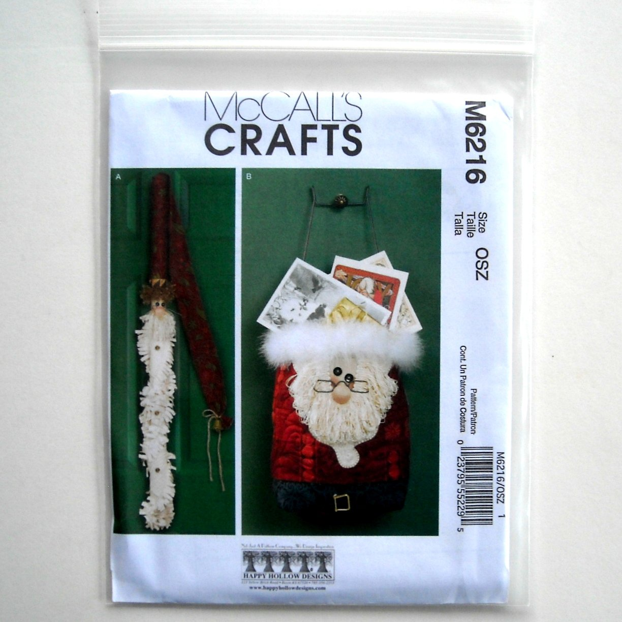Christmas Decorations McCalls Crafts 2010 Sewing Pattern M6216