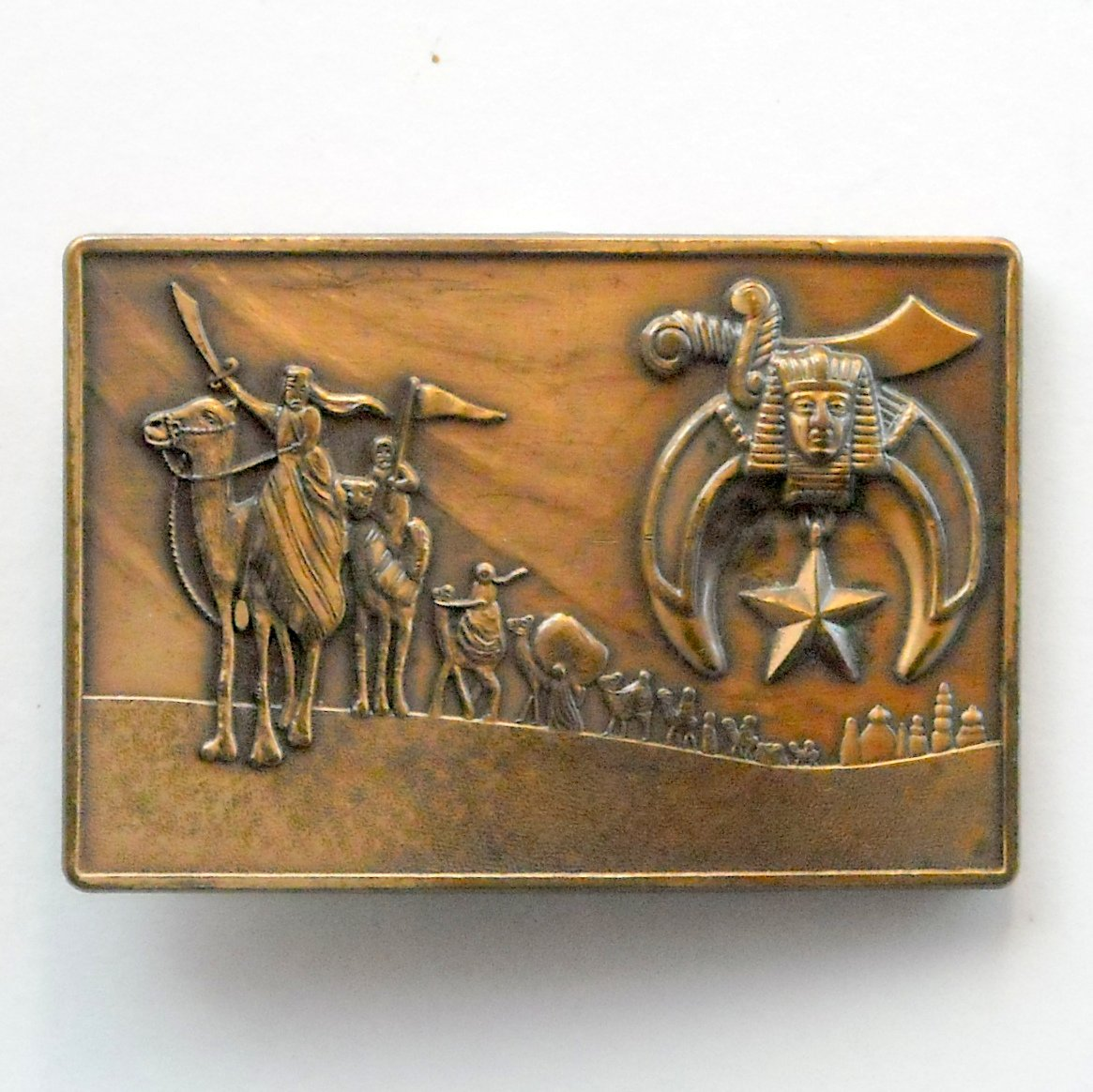 Shriners Solid Bronze Vintage belt buckle