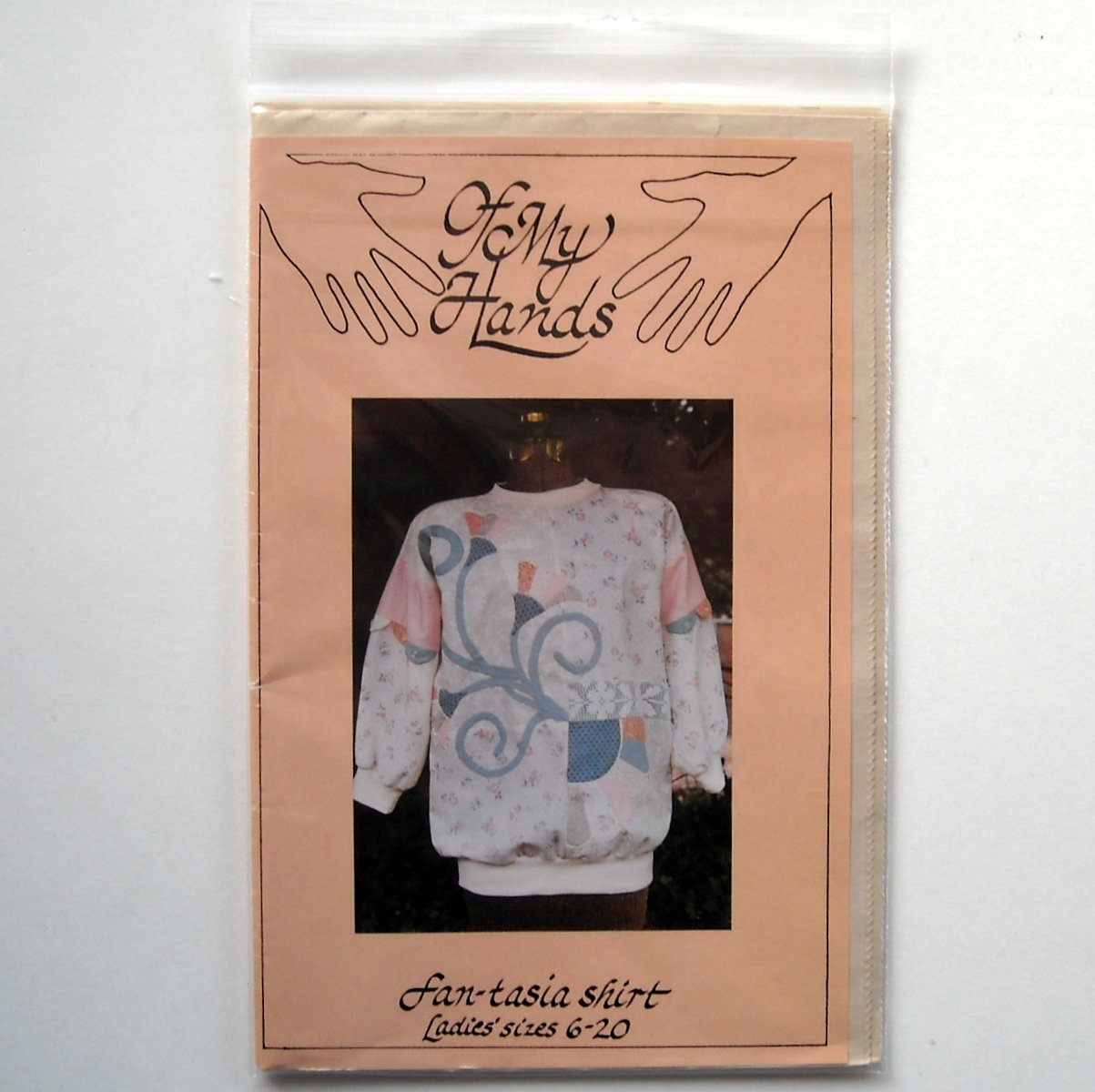 Of My Hands 1990 Fan-Tasia Shirt Crafts Pattern # OMH6-20