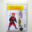 McCalls Infants Toddlers Bug Costumes Size CAA 1/2 - 4 Sewing Pattern M6180