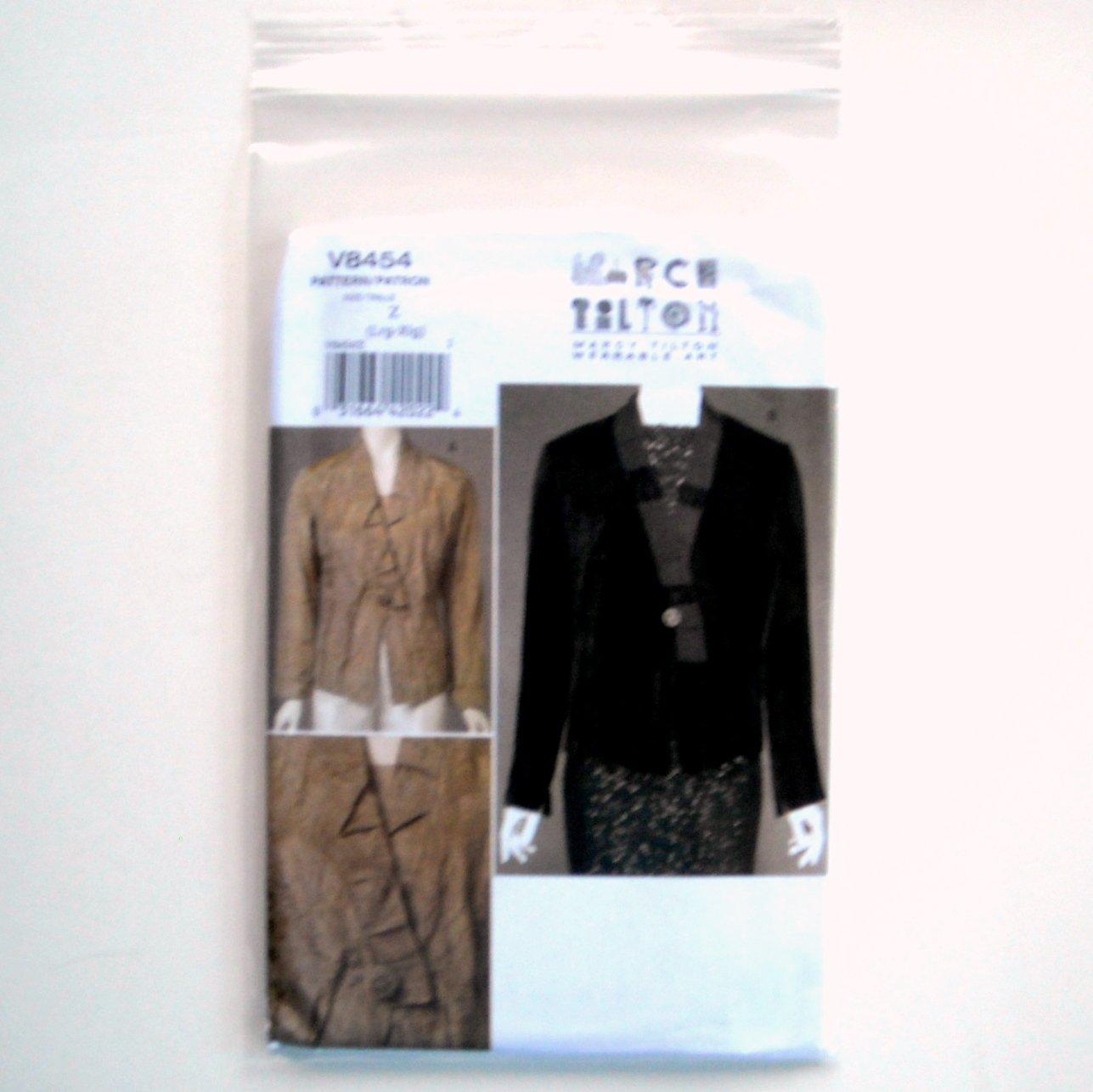 Marcy Tilton Wearable Art Misses Top Vogue Sewing Pattern V8454