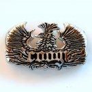 Coongi Eagle Design Mens Solid Silver Alloy belt buckle