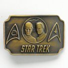 Vintage Star Trek Mr Spock Captain Kirk Bronze Color Belt Buckle