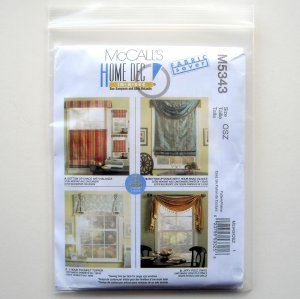 McCall's 4854 - Window Treatments - Sewing classes, patterns and