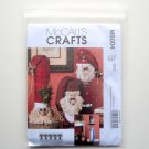 McCalls Crafts Snowman Greeter Santas Sewing Pattern M6004