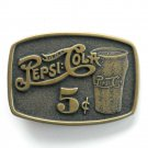 Vintage Pepsi Cola You Make The Difference Brass Belt Buckle