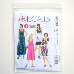 McCalls Easy Misses Womens Dresses In Four Lengths Sewing Pattern Size B5 8 - 16 M5893