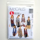 Misses Unlined Vests Two Lengths Plus Size 1 Hour McCalls Sewing Pattern 2260