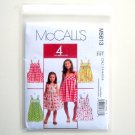 McCalls 4 Great Looks Childrens Girls Dresses Sewing Pattern M5613