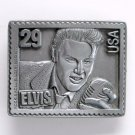 Elvis Presley King Of Rock N Roll USA #6371 Pewter Belt Buckle