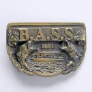 BASS 1990 Anglers Sportsman Society Brass Color Belt Buckle