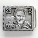 Elvis Rock N Roll Presley Stamp USA #6380 Pewter alloy belt buckle
