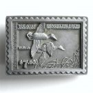 American Legends Foundry Commerative Mallards Ducks Stamp USA #2037 Pewter alloy belt buckle