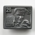American Legends Foundry Elvis Presley Stamp USA #6372 Pewter alloy belt buckle