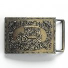 Henry Ford Detroit Vintage Bronze alloy belt buckle