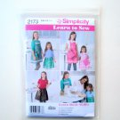 Simplicity Andrea Schewe Learn to Sew Childs Girls Apron Sewing Pattern 2173