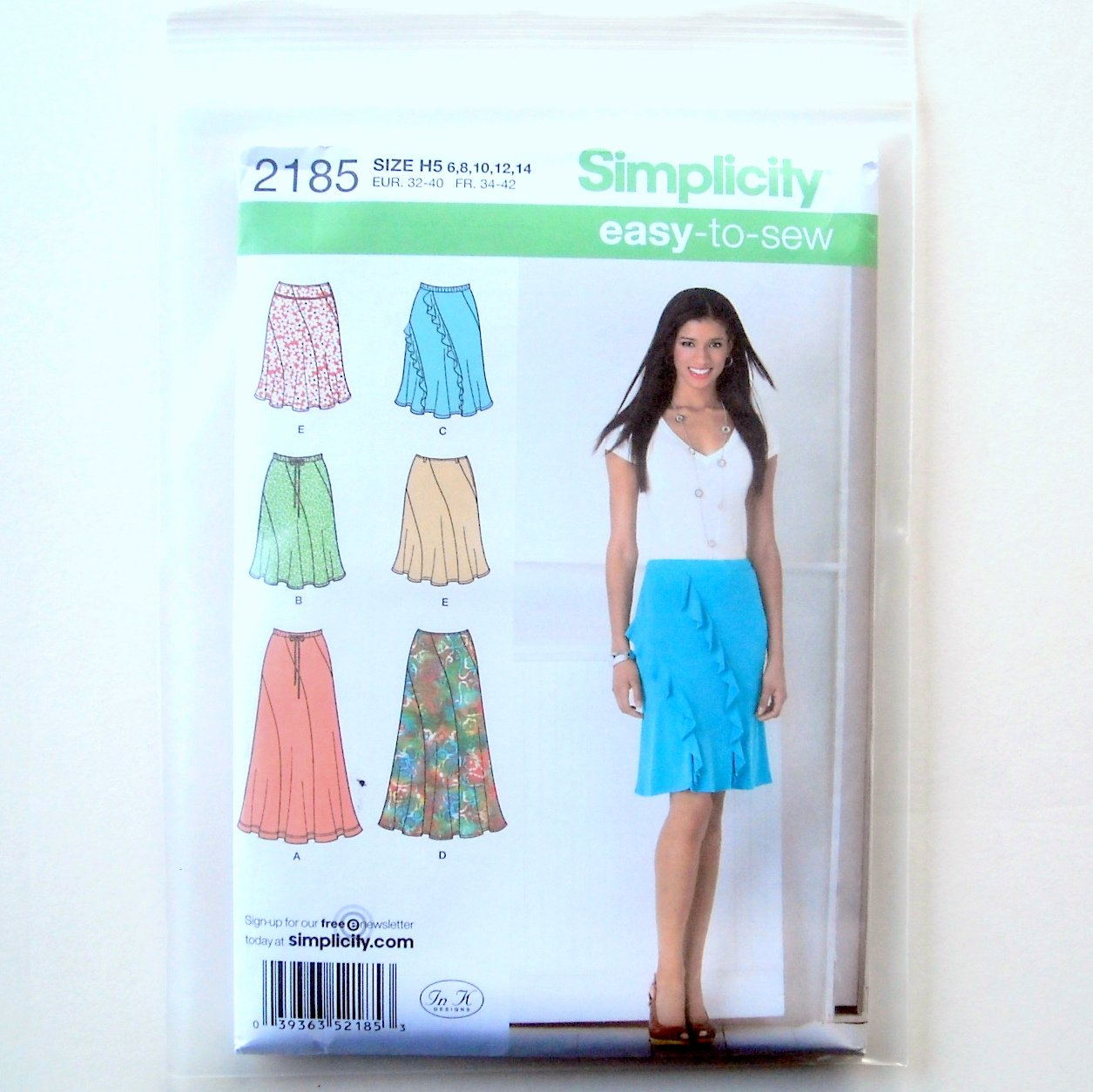 Simplicity Misses Easy To Sew Skirts Sewing Pattern 2185