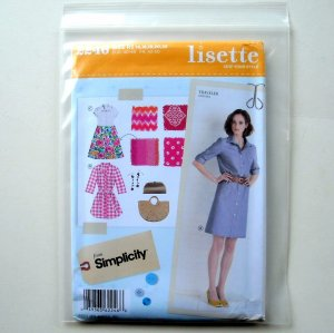 Lisette Misses Miss Petite Sportswear Dress In Three Lengths Simplicity Sewing Pattern 2246