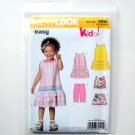 Kids Toddlers Five Sizes In One Simplicity New Look Sewing Pattern 6691
