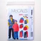 Childrens Boys Jacket Vest Pants Hat Polargear McCalls Sewing Pattern M4964