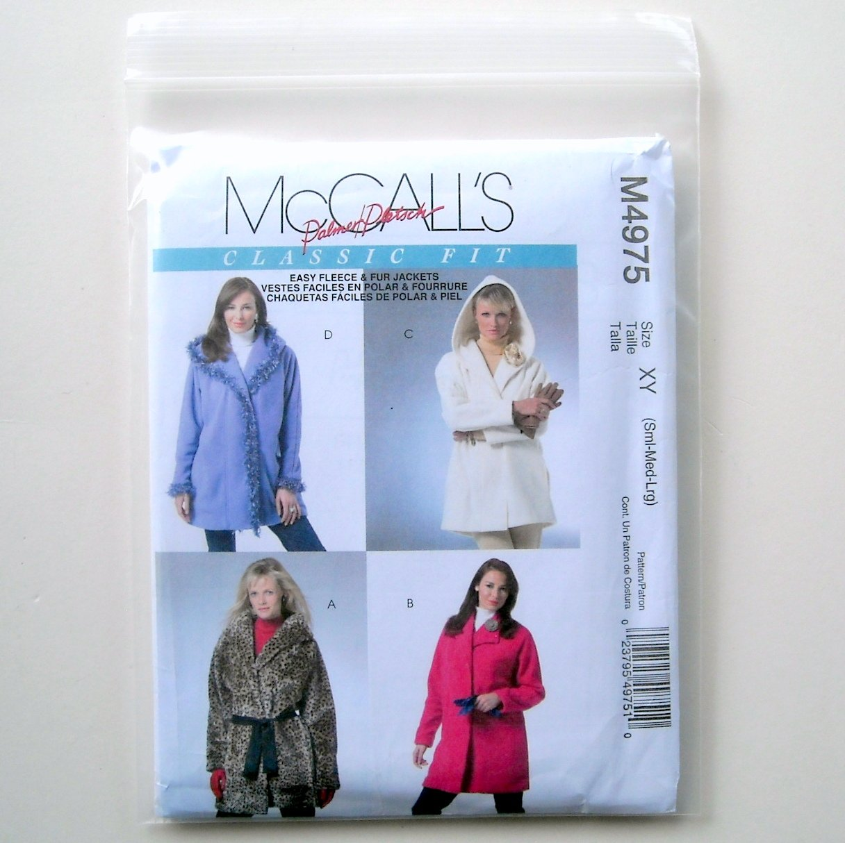 Misses Lined Unlined Jackets Palmer Pletsch McCalls Sewing Pattern M4975