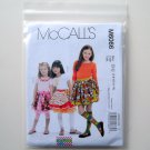 Childrens Girls Skirts Leggings Appliques McCalls Sewing Pattern M6066