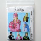 Misses Scarves Mittens Fashion Accessories McCalls Sewing Pattern MP492