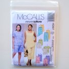 Misses Womens Top Tunics Shorts Capri Pants Plus Size McCalls Sewing Pattern 4097