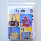 Misses Handbags Fashion Accessories McCalls Sewing Pattern 4118