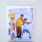 Childrens Boys TShirts Shorts In 2 Lengths Pants Size M L XL McCalls Sewing Pattern M4364