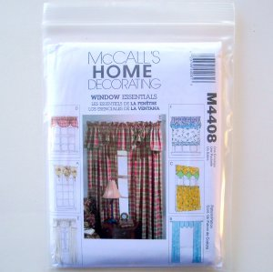 McCalls Window Treatment Sewing Pattern 4121 for by RibbonSalad