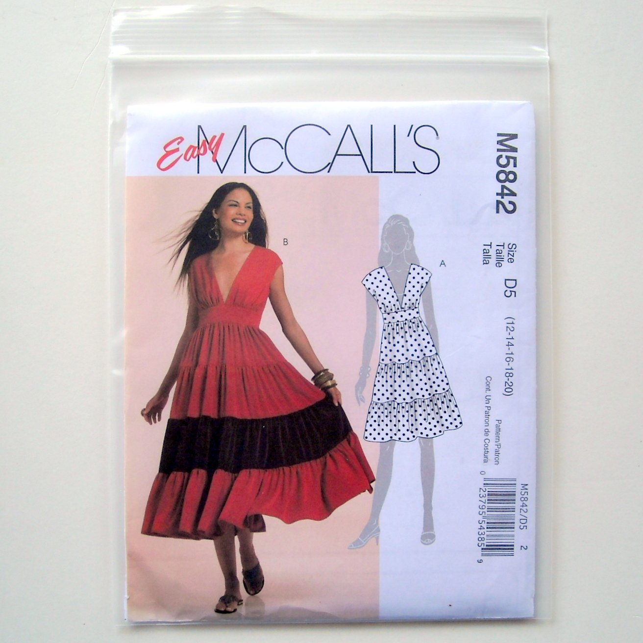 Dress 2 Lengths Misses Miss 12 - 20 McCalls Easy Sewing Pattern M5842