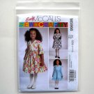 Childrens Girls Lined Dresses Size 2 - 5 McCalls Sewing Pattern M5966