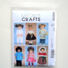 "Clothes for 18"" Doll Size OSZ McCalls Sewing Pattern M6006"