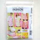 Misses Aprons Mitt Trivets Size L - XXL McCalls Sewing Pattern M6092